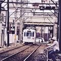 大阪の路面電車新今宮駅へ阪堺電気軌道阪堺線 20171001