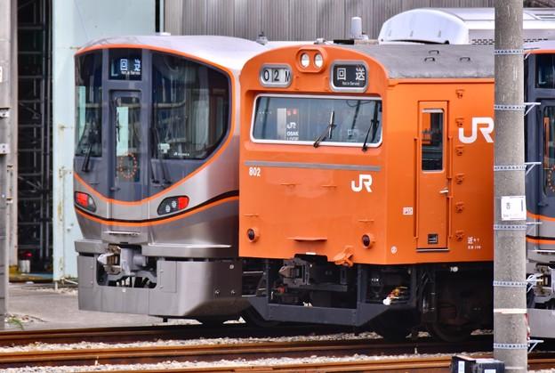 休日ダイヤで走らなかった最後姿大阪環状線オレンジ103系 20171001