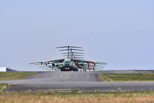 入間基地航空祭予行。。入間名物C-1大名行列 20171030