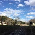 撮って出し。。冬晴れの天気 小湊鉄道 月崎駅 12月10日