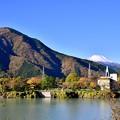 写真: 秋晴れの丹沢湖から富士山のぞむ。。20171112