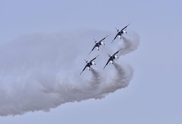 築城基地航空祭予行練習 ブルーインパルスダーティーターン