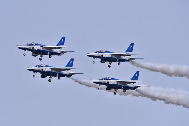 築城基地航空祭予行練習 ブルーインパルスダイヤモンドテイク・オフ