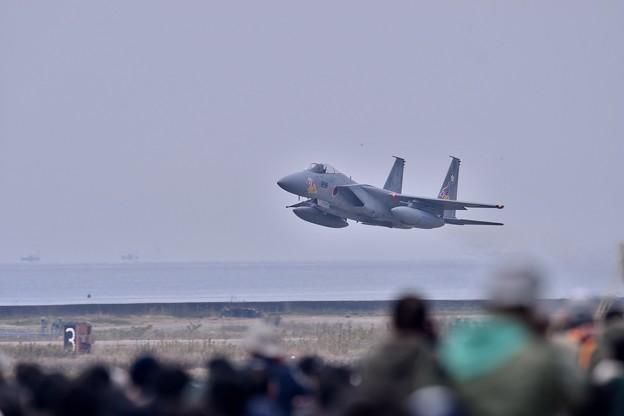 築城基地航空祭。。新田原から飛んで来た梅組F-15スペマ機