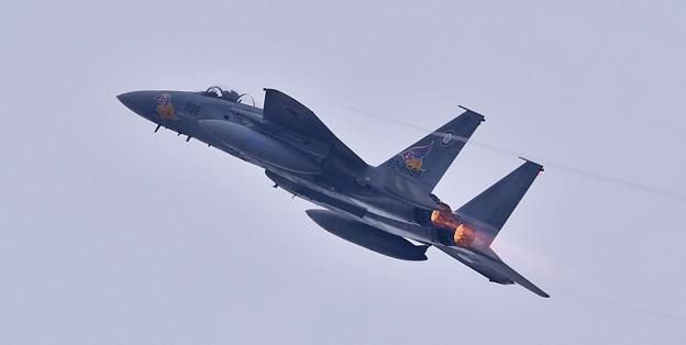 築城基地航空祭。。新田原の第205飛行隊スペマ機イーグル機動飛行