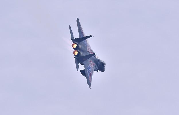 築城基地航空祭。。新田原の第205飛行隊梅組スペマ機旋回機動飛行