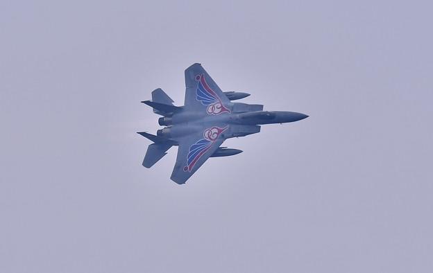 築城基地航空祭。。新田原基地航空祭前に築城基地で飛ぶスペマ機F-15イーグル