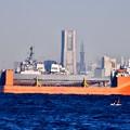 Photos: 横浜ランドマークタワーも見える馬堀海岸から衝突修理の駆逐艦フィッツジェラルド 20171209