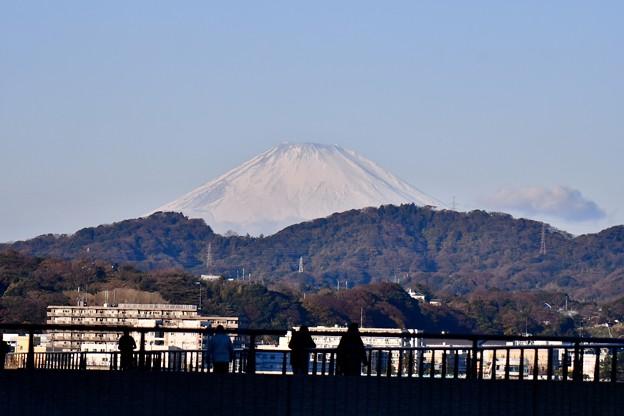 馬堀海岸から見える富士山。。20171209