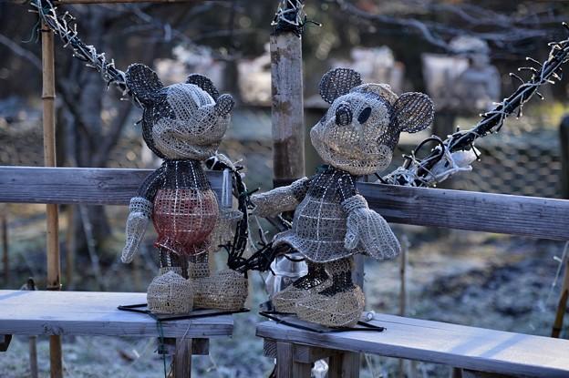 よく出来ているミッキーマウス。。小湊鉄道月崎駅 20171210