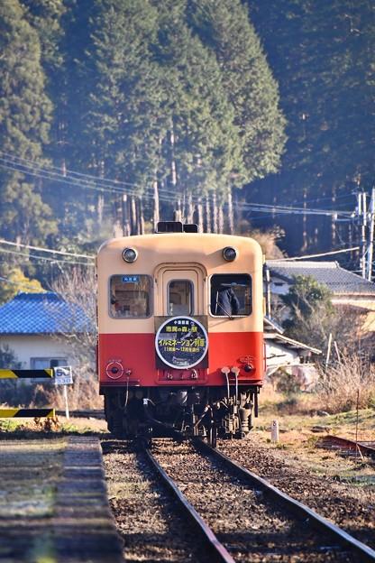 静かな町。。月崎駅を出発して小湊鉄道キハ200系 20171210