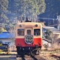 写真: 静かな町。。月崎駅を出発して小湊鉄道キハ200系 20171210