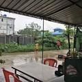 写真: 大雨の中で遊ぶ人たち (2)