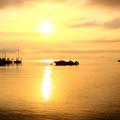 写真: 松島湾の朝