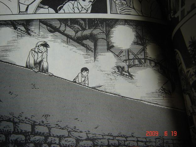 矢吹君はさみしくないの? とか言ってる。 隅田川沿い白髭橋付近か?しかし現在はこの雰囲気の場所は見当たらない DSC01282