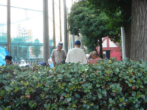 玉姫公園西側 男たちは将棋を指している DSC01626