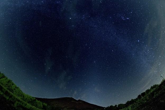 写真: 大山天の川魚眼-00488ss