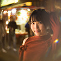 写真: 南京町の夜