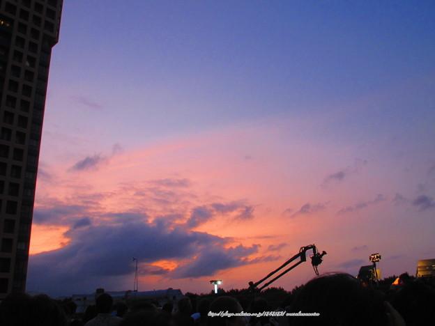 0521 クレーンカメラと夕焼け