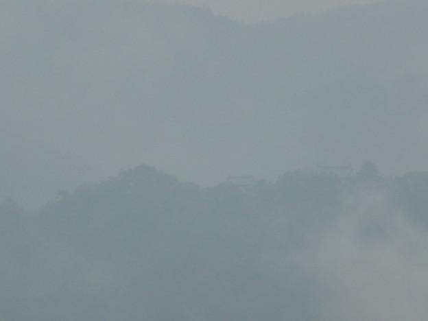 霧にかすむ松山城