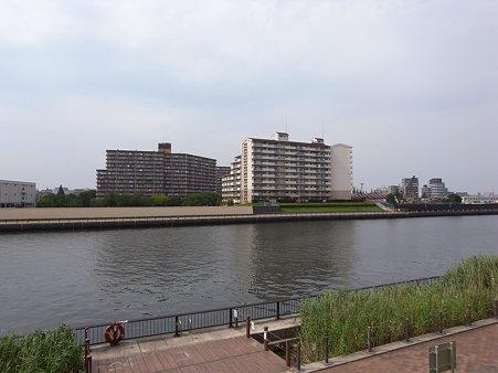 隅田川・北千住側岸(2009/7)