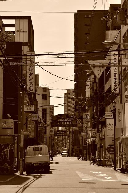 レトロな古い街並み