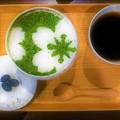 写真: 抹茶の祇園あいす@けずりひや