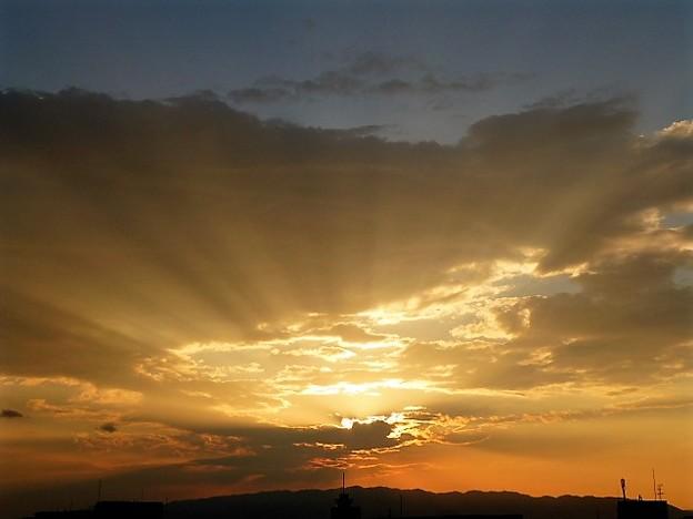 大阪の薄明光線