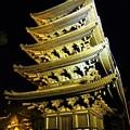 Photos: ライトアップされた興福寺五重塔