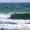 写真: 強風の海