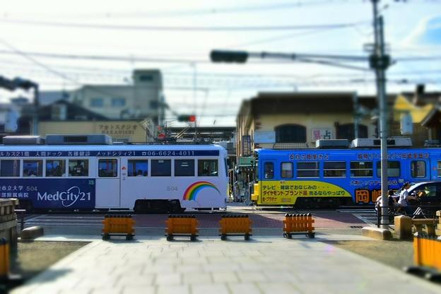住吉大社前を通過する阪堺電車