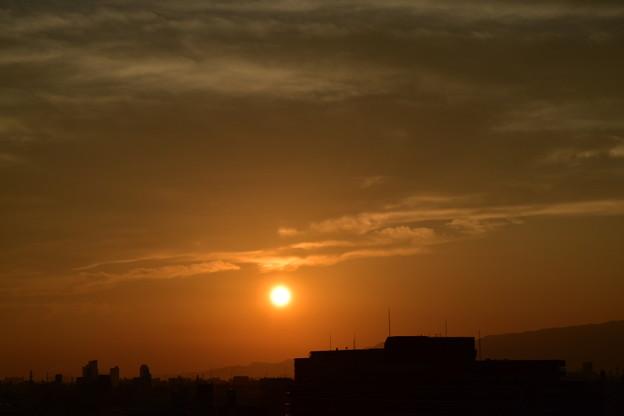 六甲山に沈む夕日