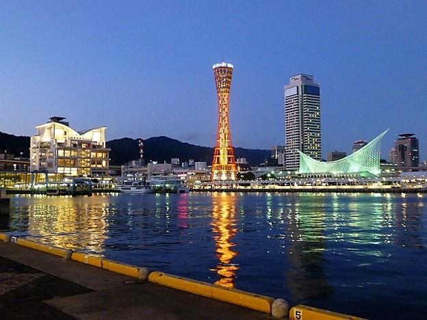 みなと街 神戸の黄昏