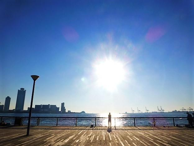 夏日が戻ってきた大阪