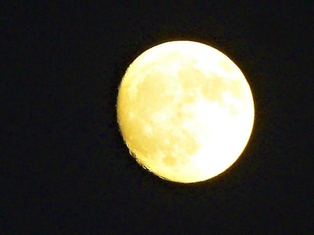 写真: 澄んだ夜空に輝く月