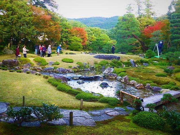 東山を借景とした池泉廻遊式の庭園