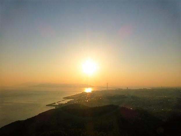 須磨浦山上からの夕日