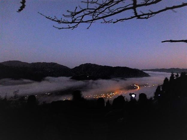 早起きして立雲峡の第一展望台へ