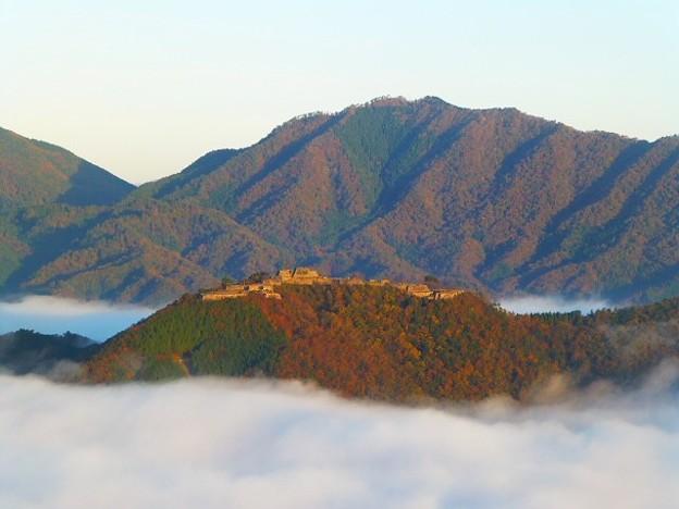 立雲挟からの竹田城跡と雲海