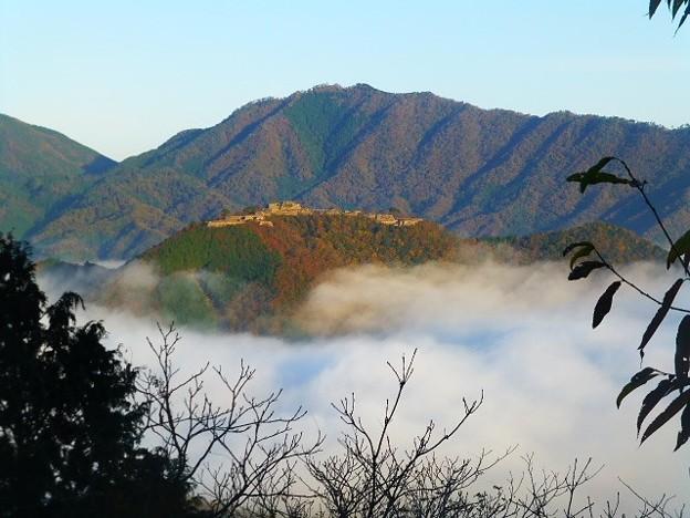 竹田城跡第二展望台からの眺め