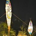 写真: あざやか巨大行灯群の競演