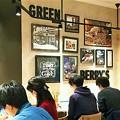 写真: Cafeで休憩