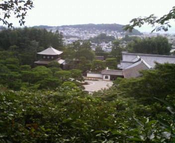 銀閣寺遠望