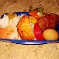0609_チャリ弁ハンバーグと煮卵