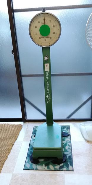 温泉場の体重計