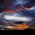 写真: 夕日、びかーん♪