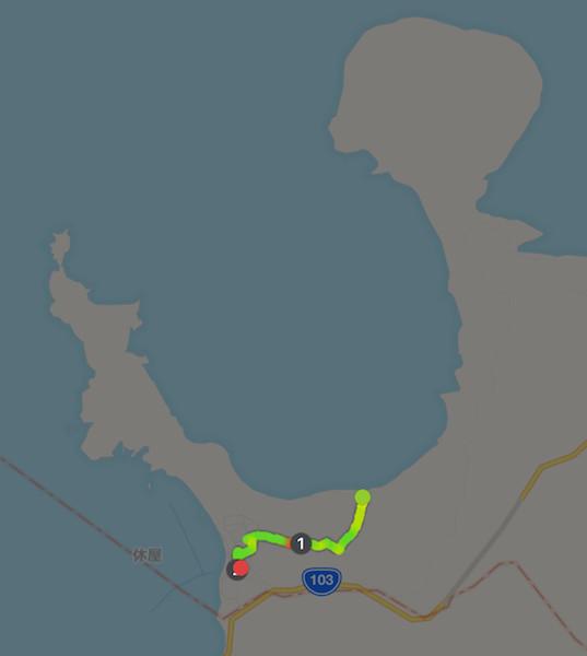 半島往復 約2km 40分の かんじきふっとパス