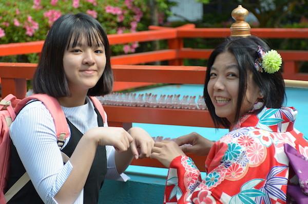 うさぎが可愛い岡崎神社へ