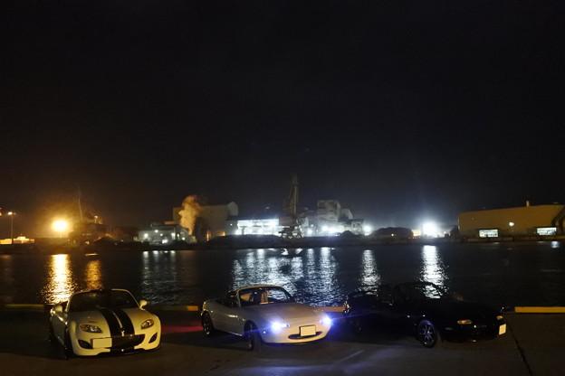 夜の仙台港へ