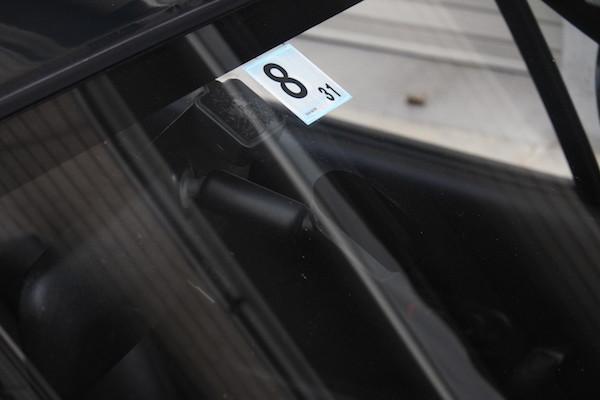 車検シール貼り替えだけを自分で実施